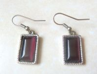 Amethyst Glass Drop Earrings